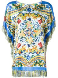 топ с узором 'Majolica' Dolce & Gabbana