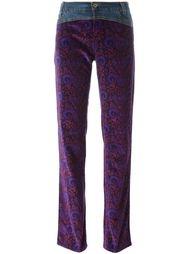 джинсовые брюки с принтом пейсли Dolce & Gabbana Vintage