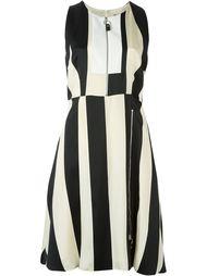 полосатое платье с молнией спереди Sportmax