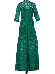 длинное платье с цветочным кружевом Carolina Herrera