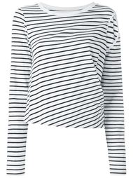 блузка с вырезом на плече Mm6 Maison Margiela