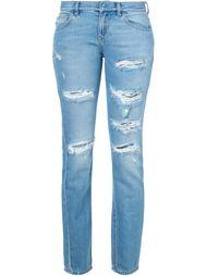 джинсы кроя скинни  с рваными деталями   Faith Connexion