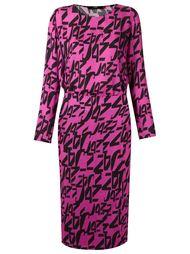 платье миди с абстрактным принтом Andrea Marques