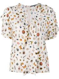 блузка с короткими рукавами 'Obsession' Alexander McQueen