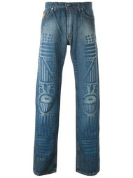 джинсы с потертой отделкой Walter Van Beirendonck Vintage