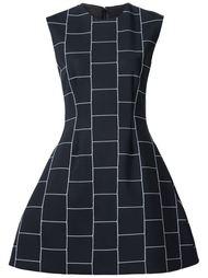 платье с клетчатым принтом  Christian Siriano