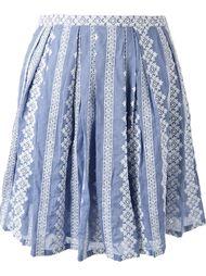 плиссированная юбка с вышивкой Band Of Outsiders