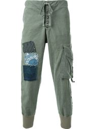 брюки-карго в стиле пэчворк  Greg Lauren
