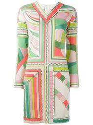 платье с длинными рукавами и принтом Emilio Pucci Vintage