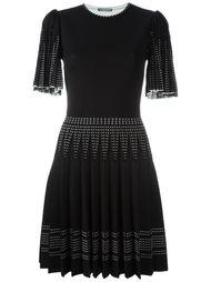 трикотажное плиссированное платье Alexander McQueen