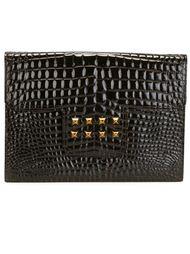 клатч с эффектом крокодиловой кожи Yves Saint Laurent Vintage