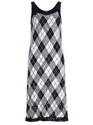 платье в рисунок аргайл Jean Paul Gaultier Vintage