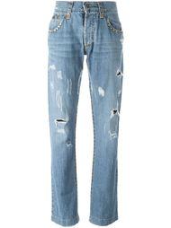 джинсы с рваными деталями Dolce & Gabbana Vintage