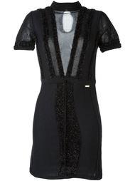 платье с прозрачными панелями Just Cavalli