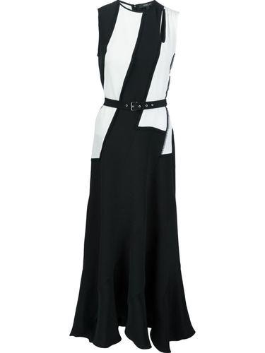 платье с контрастным поясом Derek Lam