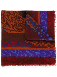 шарф с абстрактным принтом Jean Louis Scherrer Vintage