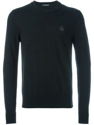 свитер с вышивкой логотипа Dolce & Gabbana