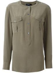 блузка с нагрудными карманами Theory