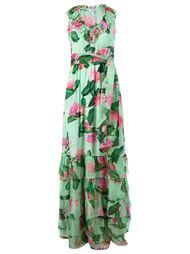 вечернее платье  с цветочным принтом Isolda
