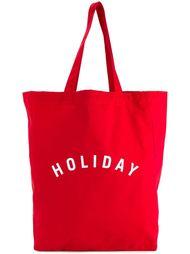 сумка-тоут с принтом-логотипом Holiday