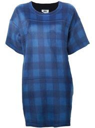 платье-футболка в клетку Mm6 Maison Margiela