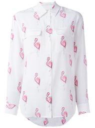 рубашка с принтом фламинго Equipment