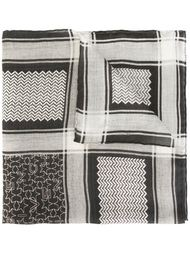 шарф со смешанным принтом Givenchy