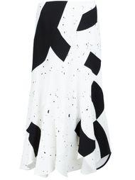 юбка А-силуэта с контрастным принтом Derek Lam