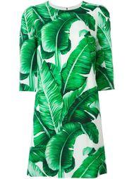 платье с банановыми листьями Dolce & Gabbana