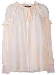 блузка с рюшами Roberto Cavalli