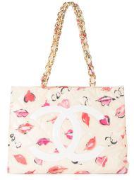 сумка через плечо с принтом 'Jumbo lip' Chanel Vintage