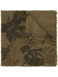 платок с принтом листьев монстеры Jean Louis Scherrer Vintage