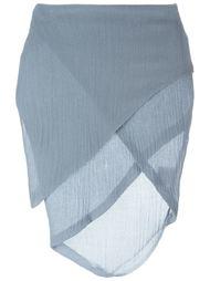асимметричная юбка с запахом Romeo Gigli Vintage