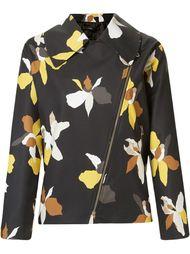 floral print biker jacket Andrea Marques