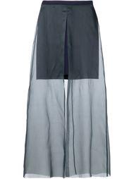 прозрачная юбка макси  Yang Li