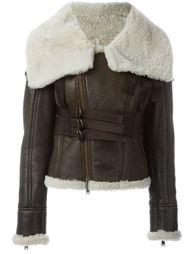 куртка с воротником из овчины  Dsquared2