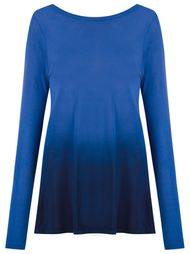 dip-dye blouse Blue Man