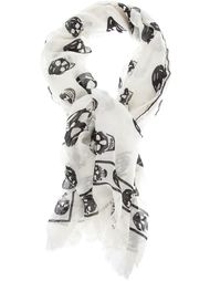 платок с узором в виде черепа Alexander McQueen