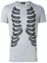 футболка с принтом реберных костей Alexander McQueen