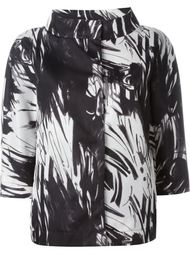 куртка с абстрактным принтом Herno