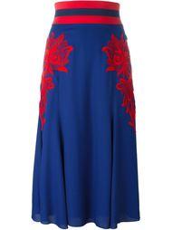 юбка с цветочной вышивкой Marc Jacobs