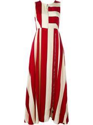 полосатое платье с застежкой-молнией Sportmax