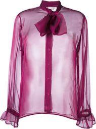прозрачная блузка с бантом Yves Saint Laurent Vintage