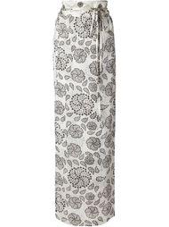 длинная юбка с цветочным принтом Ann Demeulemeester