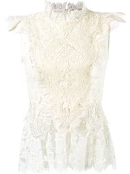 ruffled lace blouse Martha Medeiros