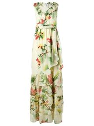 шелковое платье с цветочным принтом Isolda