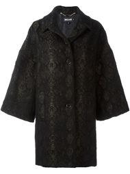 однобортное пальто Just Cavalli