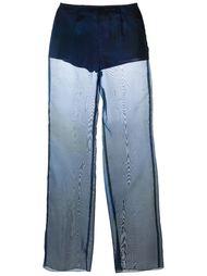 прозрачные расклешенные брюки Romeo Gigli Vintage