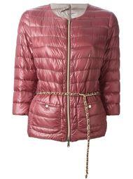 дутая куртка с цепочным поясом Herno