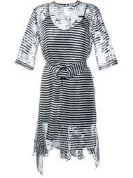прозрачное платье в полоску Preen By Thornton Bregazzi